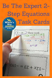 two step equations with integers math task cards to practice two step equations with integers great