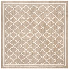 safavieh amherst wheat beige 7 ft x 7 ft indoor outdoor square area rug amt422s 7sq the home depot