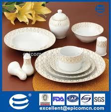 dinner sets for 6. golden pink floral round super white porcelain 42 pcs of dinner set for 6 person sets e