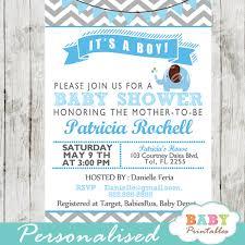 Blue Elephant Baby Shower Invitation Card D105 Baby Printables