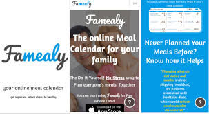 online meal calendar famealy an online meal calendar for your family
