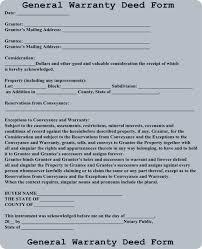 new jersey deed form free general warranty deed form download a free warranty deed form