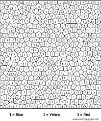 Color By Numbers Coloring Pages Adult Color By Number Pages For