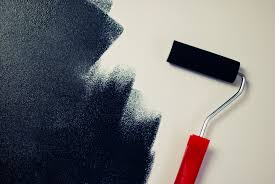 painting a wallFree stock photo of black color paint