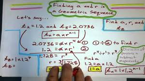 finding the first term and common ratio from a geometric sequence you