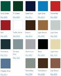 seceuroglide sectional garage door colour chart garage door paint color ideas