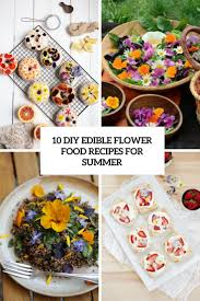 diy edible flower food recipes for summer cover