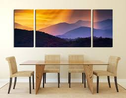 3 piece large pictures dining room wall art orange large pictures mountain wall on large multi panel canvas wall art with 3 piece wall art landscape large pictures orange multi panel