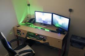 Furniture:Diy Computer Desk Ideas Space Saving Awesome Picture Also  Furniture Awe Inspiring Photo Gaming
