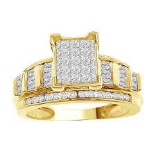 womens diamond clics princess baquette bridal ring