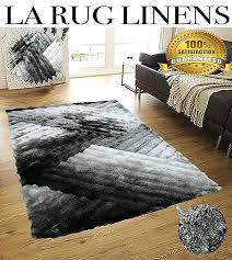 light gray rug fluffy modern thick plush soft pile living room bedroom floor rug