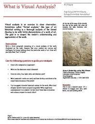 visual analysis formal analysis an art history essay example  visual analysis formal analysis an art history essay example