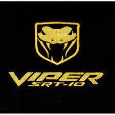 dodge viper srt 10 logo.  Dodge Dodge Viper SRT10 Floor Mats 20032010 Yellow Logo In Srt 10 Logo 0