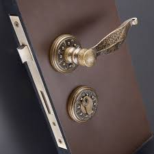 N Aliexpresscom  Buy EXPORTED CLASSIC FANCY ANTIQUE BRASS ROSSETTE DOOR  HANDLES WITH LOCK BODY AND CYLINDER From Reliable Handle With Lock Suppliers On
