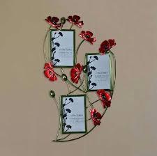 fl metal wall art modern home decoration metal wall art hand made red flower photo frame fl metal wall art