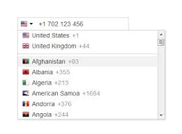 International Telephone Input With Flags And Dial Codes Free