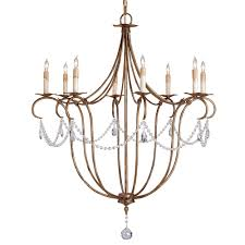 crystal lights chandelier large by currey company