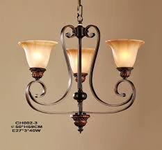 elegant 3 light copper kitchen chandeliers for