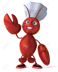 Cartoon Lobster With Chef Hat Waving ...