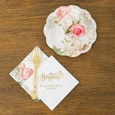 Pink Flower Paper Plates Partyware Floral Paper Plates Weddingstar Canada