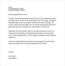 Rent Notice Letter 9 Sample Rent Increase Letter Templates Pdf Word
