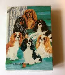 gift cavalier king charles spaniel playing cards