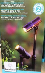 Alpan Solar Spot Lights Smartyard Led Solar Spotlight 2 Pack