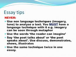 year poetry essay assignment technique analysis it can be  20 essay