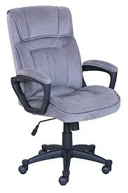 X Serta Executive Office Chair In Velvet Gray Microfiber Black Base