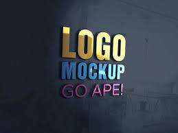 Logo Mock Up 3d Glass Window Logo Mockup Apemockups