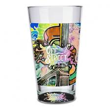 pint glass 16oz with full color print