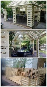 Complete pallet pavilion built with repurposed EURO pallets. Really  beautiful work but not for beginners. | Pallet outdoor, Pallet furniture  outdoor, Pallet house