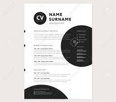 Cv Resume Template Creative Stylish Curriculum Vitae Design