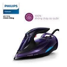 Bàn ủi hơi nước Philips cầm tay GC5039 3000W (Tím) - Hàng phân phối chính  hãng, bảo hành 24 tháng, mặt đế bàn ủi chống dính
