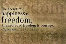 the-secret-of-happiness-is-freedom-the-secret-of-freedom-is-courage-freedom-quote.jpg via Relatably.com