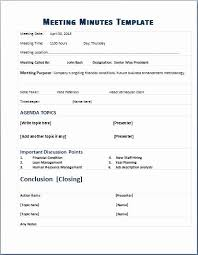Meeting Agenda Template Doc Awesome Minutes Template Doc