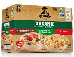 Quaker <b>Organic Instant Oatmeal</b> Variety Pack 32 Ct. | Boxed