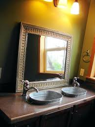 galvanized bathroom sink country full bathroom with 1 gallon galvanized oval tub flat panel cabinets powder
