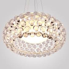 round modern crystal chandelier bedroom lamp beads crystal ball chandelier continental