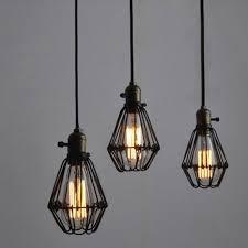 winsoon metal pendant light shade vintage chandelier retro cage lamp