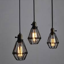 winsoon metal pendant light shade vintage industrial chandelier retro cage lamp all s