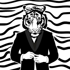 tiger black and white drawing.  White Human Tiger Drawing Black White Design Throughout Tiger Black And White Drawing I