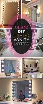 diy lighted vanity mirrors