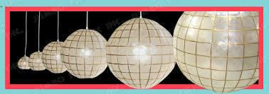 hanging chandeliers capiz lighting fixtures