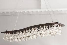 contemporary chandelier glass nickel bronze