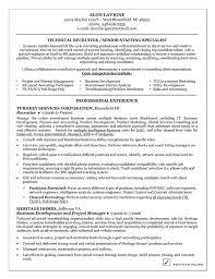 Technical Recruiter Resume Example