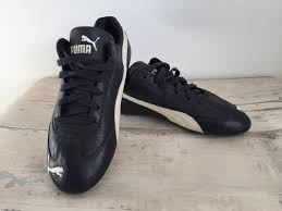 las black puma leather trainers with white stripe size 5 38 women s shoes puma puma future largest collection