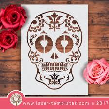 Design A Sugar Skull Online Sugar Skull Stencil 02 Sugar Skull Stencil Skull Stencil