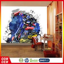 Kinderkamer 3d Transformers Cartoon Behang Kids Muurschilderingen