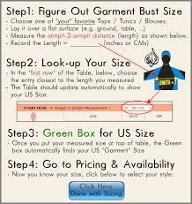 Us Tops Size Chart Islamic Swimwear Size Chart Swimsuits Sizing Guide